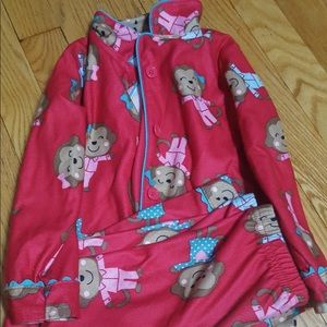 edec80c5b Kids  Girls Monkey Pajamas on Poshmark